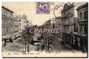 Tunisia Postcard Old Tunis Avenue de France