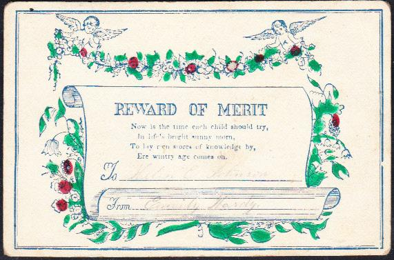 Reward of Merit  Poem About Learning While Young