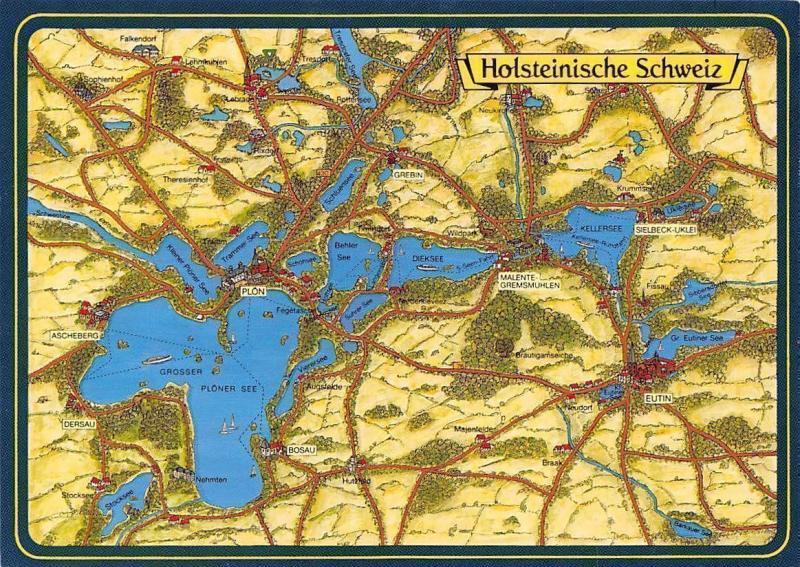Holsteinische Schweiz Karte.Holsteinische Schweiz Karte Map Ploen Grebin Malente