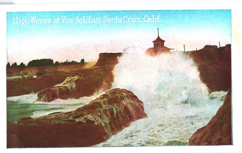 High Waves at Vue de L'eau, Santa Cruz, California