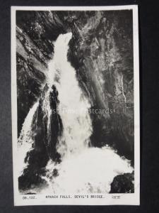 Wales Aberystwyth MYNACH FALLS - DEVILS BRIDGE - Old RP Postcard by Frith