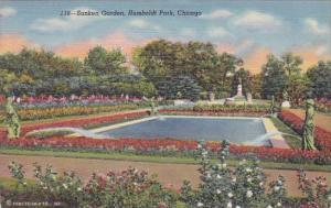 Illinois Chicago Sunken Garden Humboldt Park Curteich