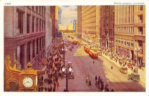 Chicago Illinois~State Street~1920 Postcard