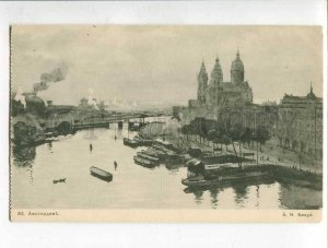 285953 Netherlands AMSTERDAM by BENOIS old ART NOUVEAU RUSSIA