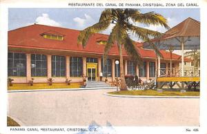 Panama Old Vintage Antique Post Card Panama Canal Restaurant Cristobal 1930
