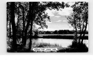 Workman Park Oxbow Saskatchewan Vintage Photo Postcard E10