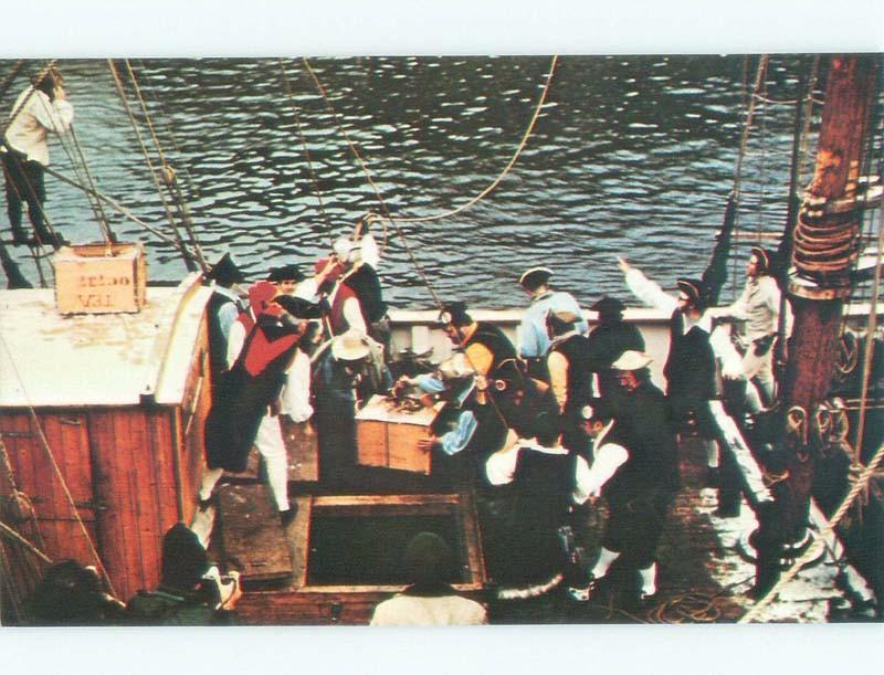 Pre-1980 BOSTON TEA PARTY SCENE Boston Massachusetts MA E6491