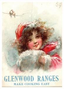 Connecticut Putnam , Ballard & Clark, Glenwood Ranges , Trade Card