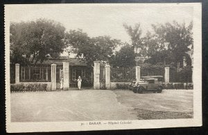 Mint French Senegal Real Picture Postcard RPPC Dakar The Colonial Hospital
