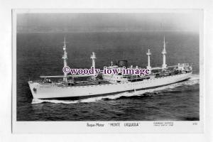 pf4592 - Spanish Cargo Ship - Monte Urquiola , built 1949 - postcard