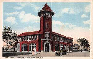 Lutheran Survey Building, Columbia, South Carolina, Early Postcard, Unused
