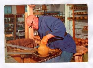 Prinknash Abbey , Gloucester, Brother Thomas at the Potters wheel, England, 5...