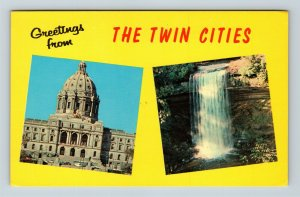 Twin Cities MN, Greetings, Montage, Chrome Minnesota Postcard
