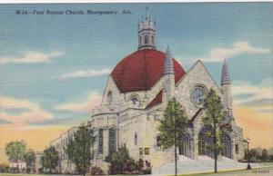 Alabama Mongomery First Baptist Church Curteich