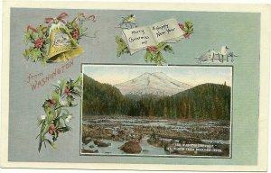 WASHINGTON, 1900-10s; Christmas & New Year, Mt. Baker from Boulder Creek