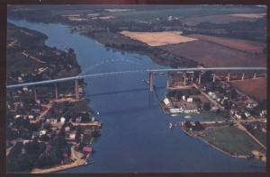 Chesapeake City 213 Highway Wilmington Delaware Aerial View Bridge Postcard