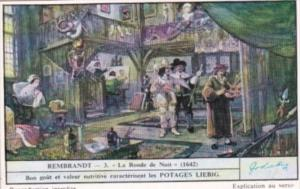 Liebig Trade Card S1481 Rembrandt II No 3 La Ronde de Nuit 1642