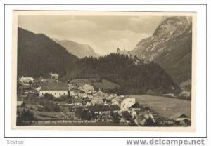 RP Markt Werfen (547m) mit Feste Hohen-Werfen, Germany PU 1933