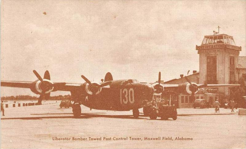 Alabama  Maxwell Field  Liberator Bomber towered past control tower