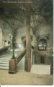 Hall Staircase, Christ Church, early 1900s unused Postcard