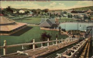 Willow Grove Park Phiadelphia Birdseye From Roller Coaster c1910 Postcard