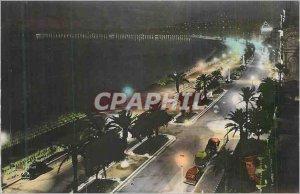 Postcard Modern French Riviera Nice Promenade des Anglais Night