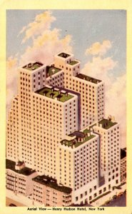 New York City Aerial VIew henry Hudson Hotel Dexter Press