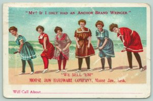 Moose Jaw SK~Hardware Co Sells Anchor Brand Wringers~Bathing Beauties Drip~1909