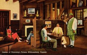 Virginia Williamsburg Interior Of Chowning's Tavern 1957 Curteich