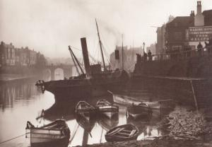 Victorian Ship Scottish The Flying Spray at Whitby Yorkshire Harbour Postcard