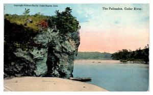 1917 The Palisades, Cedar Rapids, IA Postcard *5N9