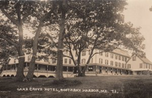 RP; BOOTHBAY HARBOR , Maine , 1900-10s ; Oake Grove Hotel