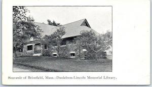 Brimfield, Massachusetts Postcard Danielson-Lincoln Memorial Library c1900s