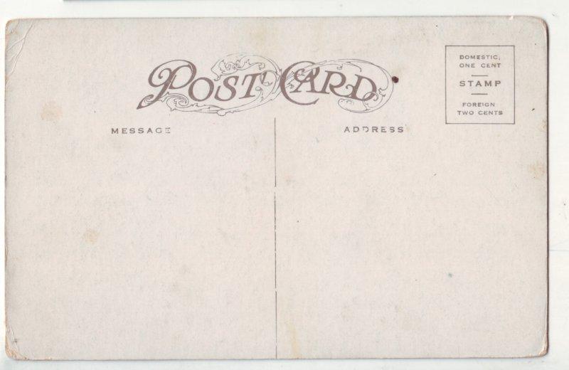 P1209 old postcard unused train railroad going threw the royal gorge colorado