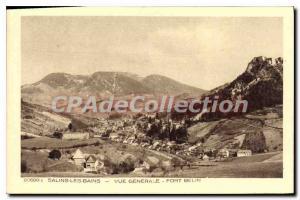 Old Postcard Salins Les Bains Vue Generale Fort Belin
