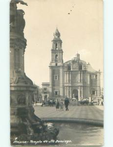 Pre-1942 rppc IGLESIA DE SANTO DOMINGO Mexico City Mexico i3796