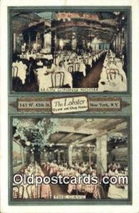 The Lobster Oyster & Chop House Restaurant, New York City, NYC Postcard Post ...