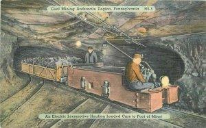 Pennsylvania Coal Mining Anthracite Region Ramsay Mebane 1940s Postcard 21-7528