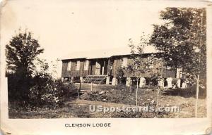 Clemson Lodge Parksville NY stamp on back not postal used