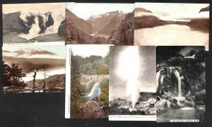New Zealand lot 7 vintage postcards