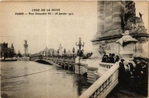 CPA PARIS Pont Alexandre III INONDATIONS 1910 (605507)