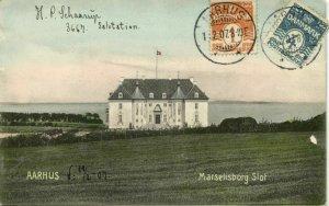 denmark, AARHUS ÅRHUS, Marselisborg Slot (1907) Postcard