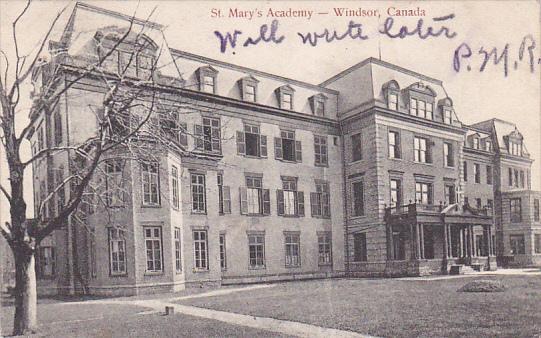 St Mary's Academy , WINDSOR , Ontario , Canada , PU-1906