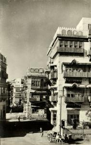 saudi arabia, DJEDDAH JEDDAH, Street Scene with Typical Houses (1950s) RPPC