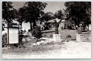Eureka Springs AR~Castle @ Inspiration Point~Rooms Cabins for Rent~1940s RPPC