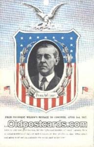 Woodrow Wilson 28th USA President Postcard Postcards