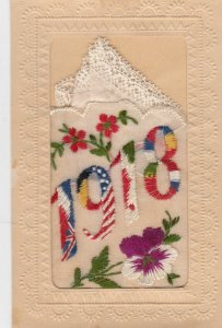 Embroidered 1914-18 ; Allies' Flags , 1918 Yeardate : #3