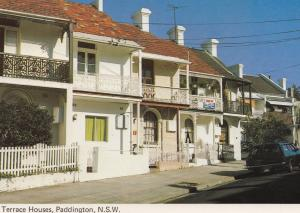 Terrace Houses New South Wales Australia 1970s Postcard