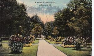 Illinois Galesburg View Of Standish Park 1914