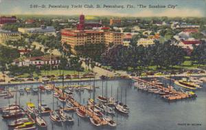 St Petersburg Yacht Club St Petersburg Florida 1955 Curteich